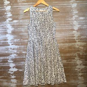 Rebecca Taylor Silk Black and Cream Dress Size 2